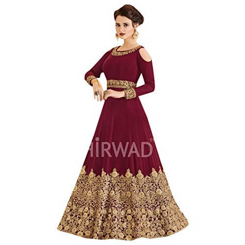 ultime 2691 Designer Red pakistano Sholder musulmane indiano Salwar costume Bollywood sposa abito da Designer Kameez Salwar Anarkali Kameez L'abbigliamento delle donne Cold ppPq0w1