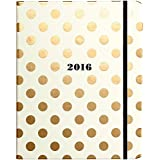 kate spade new york Large 17 Month Covered Spiral Agenda, Gold Dots