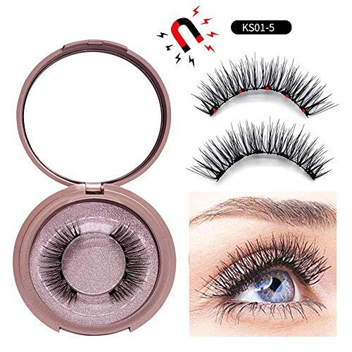 Baiwka Magnetic Eyelashes Natural Falses Eyelashes Kit (Magnetic False  Eyelashes) No Glue 5 Magnets Reusable Fake Eyelashes For Makeup Eyelashes