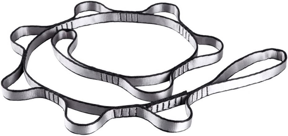 1.1mRed szlsl88 Alpinismo Nylon Daisy Chain Cuerda con Aros Yoga Hamaca Colgante Correa Monta/ñero Bandlet Correa 110cm Alpinismo Accesorio #18
