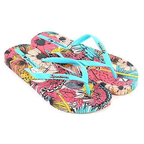 Women's Beauty Ipanema Turquoise Flops Flat Tropical Flip pPqAwxA0f