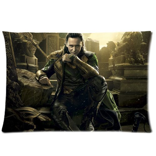 [Every New Day Superhero Series Thor Loki Unique Custom Zippered Pillow Cases 20x30 inches(50x76cm) (Two] (Pug Batman Costume)