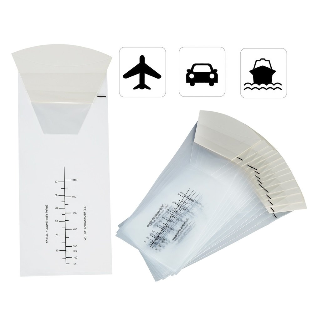 48 Counts/ Pack Clear Disposable Throw-up Urine Bag,Convenience Bag For Vomit and Urine Disposal