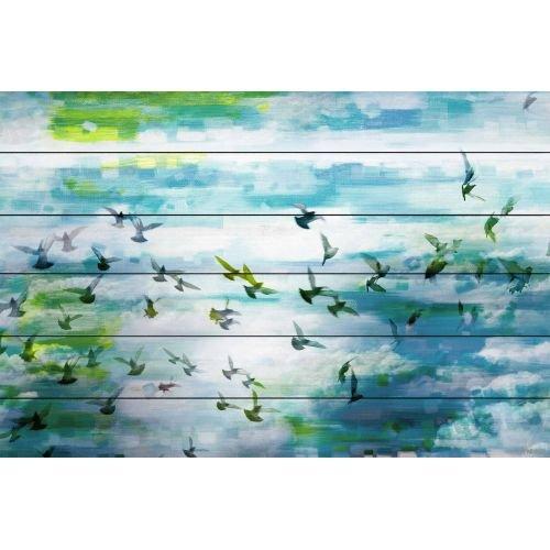 Parvez Taj Acadia Street - on White Wood Art Print on White Pine Wood, 24 x 36