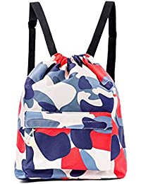 Dry Wet Separated Swimming Bag Portable Drawstring Backpack Waterproof Gym Sports Pool Beach Gear Bag for Men Women Boys and Girls