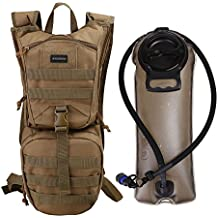 Hydration Pack Backpack with 2.5L Hands Free Water Bladder- Tactical Sports Military Reservoir Bag for Outdoor Cycling Walking Camping Running