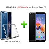 Honor 7X TEMPERED GLASS + 1 TRANSPARENT Back Cover (COMBO PACK) by SmartLike