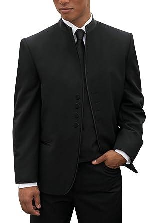 05822d5c9 Mens Suit 3 Pieces Regular Slim Fit Solid Wedding Suits Groomsmen  Tuxedos(Blazer+Pants+Vest) at Amazon Men's Clothing store: