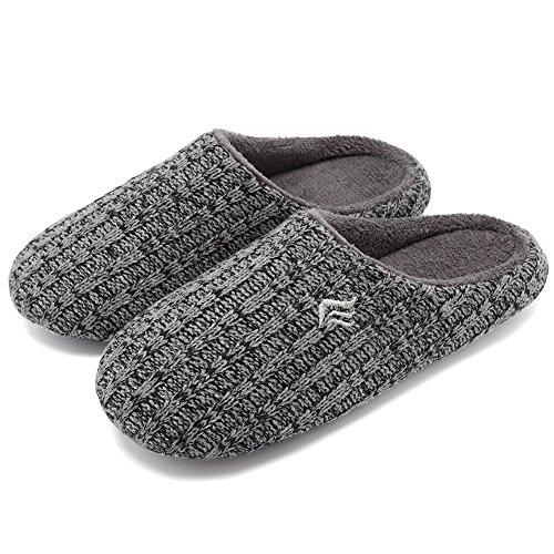 Knitted Indoor Women's Winter CIOR Slippers Fantiny Cashmere Gray Black Slip Cotton House Autumn Anti f0fIq5w