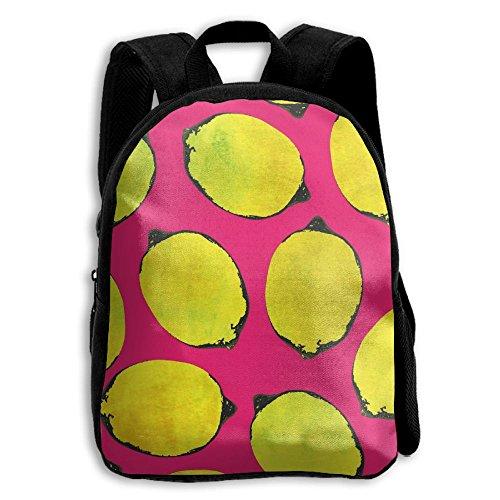 Old School Lemon Kid Boys Girls Toddler Pre School Backpack Bags Lightweight Replenisher Lemonade