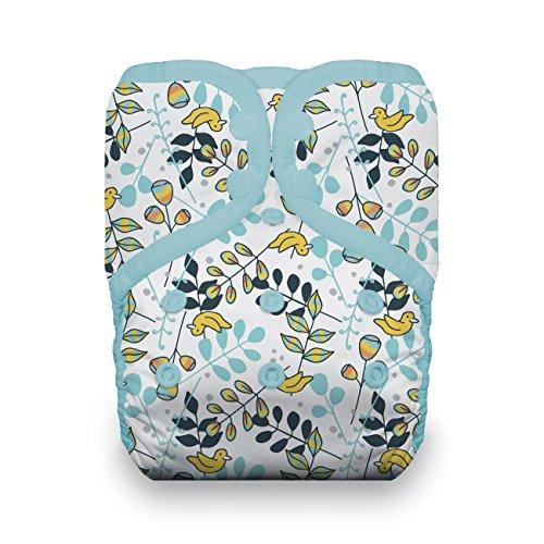 Thirsties Reusable Cloth Diaper, One Size Pocket Diaper, Snap Closure, Birdie