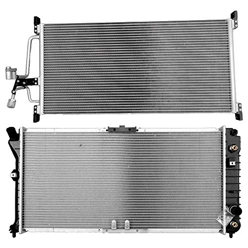 ECCPP Radiator+AC A/C Condenser AC4806 LR2421 Replacement fit for 1999 2000 2001 2002 Oldsmobile Intrigue 3.5L