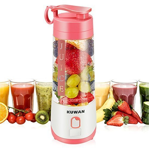 KUWAN Mini Electric Fruit Juicer Rechargeable portable Blender with USB Charging Cable install safety protection program
