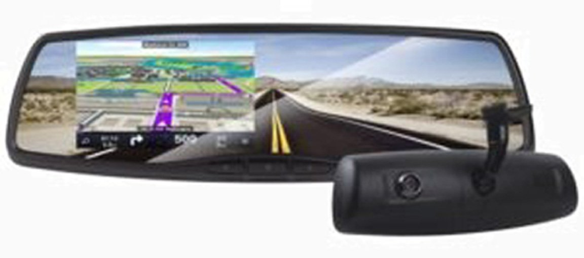 Rydeen MN450S Smart GPS/Navigation Mirror w/ 4.3'' TFT, Front View DVR, Backup Camera Input