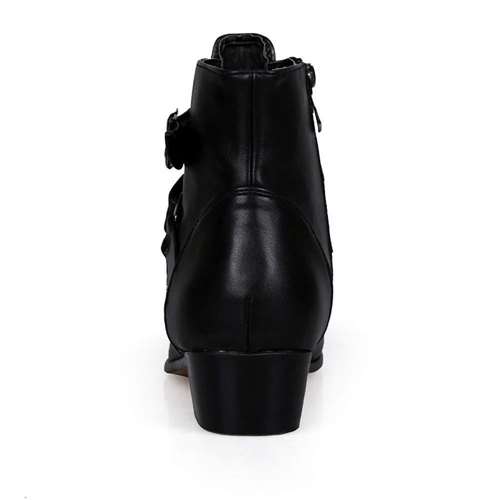 Bottines Chelsea pour Homme en Cuir Chaussures pour Homme Montantes en Daim Look Jodhpur Boots pour Hommes LuckyGirls Chic Chelsea Boots Homme /Él/égantes Bottines Gentleman Britannique