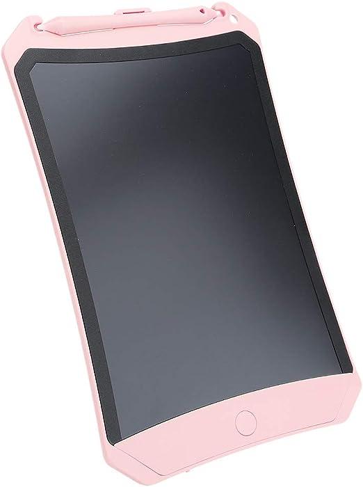 子供用LCDライティングタブレット8.5インチ、ドローイングパッド家庭用、子供用、大人用のLCDライティングボードギフト、学校およびオフィスグラフィック電子タブレット(ピンク)