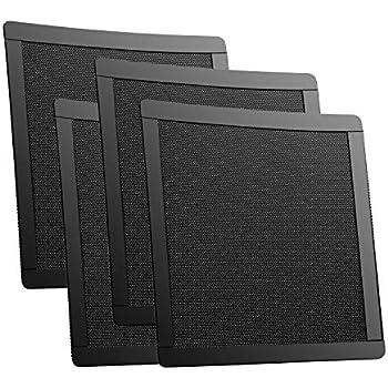 92mm 90mm Fan Dust Filter Mesh 3.62 inch PVC PC Case Fan Dust Mesh Cover Magnetic Grills Black 4-Pack