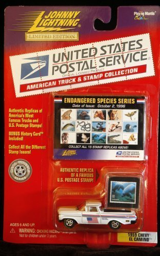 Johnny Lightning USPS American Truck & Stamp Collection1959 Chevy El Camino Endangered Species Series by Johnny (Endangered Species Stamps)