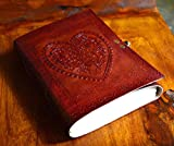 NICK & NICHE handmade genuine leather refillable journal notebook travel diary diario 7 inches