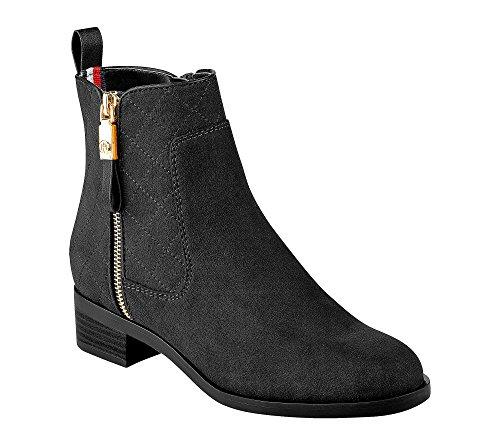 Boot Patron Women's Ankle Black Hilfiger Tommy xOpEq4nIwf