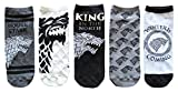 Game of Thrones Stark Juniors/Womens 5 Pack Ankle Socks Size 4-10