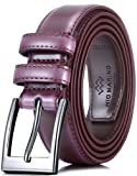 Marino's Men Genuine Leather Dress Belt with Single Prong Buckle -...