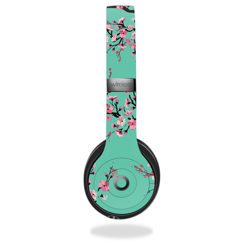 MightySkins Skin For Beats by Dr. Dre Solo 3 Wireless - Cherry Blossom Tree | Protective, Durable, and Unique Vinyl Decal wrap cover | Easy To Apply, Remove, and Change Styles | Made in the USA