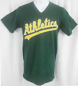 new style 962ef f4c3e Majestic Oakland A'S Athletics MLB V Neck Green Shirt Adult Sizes