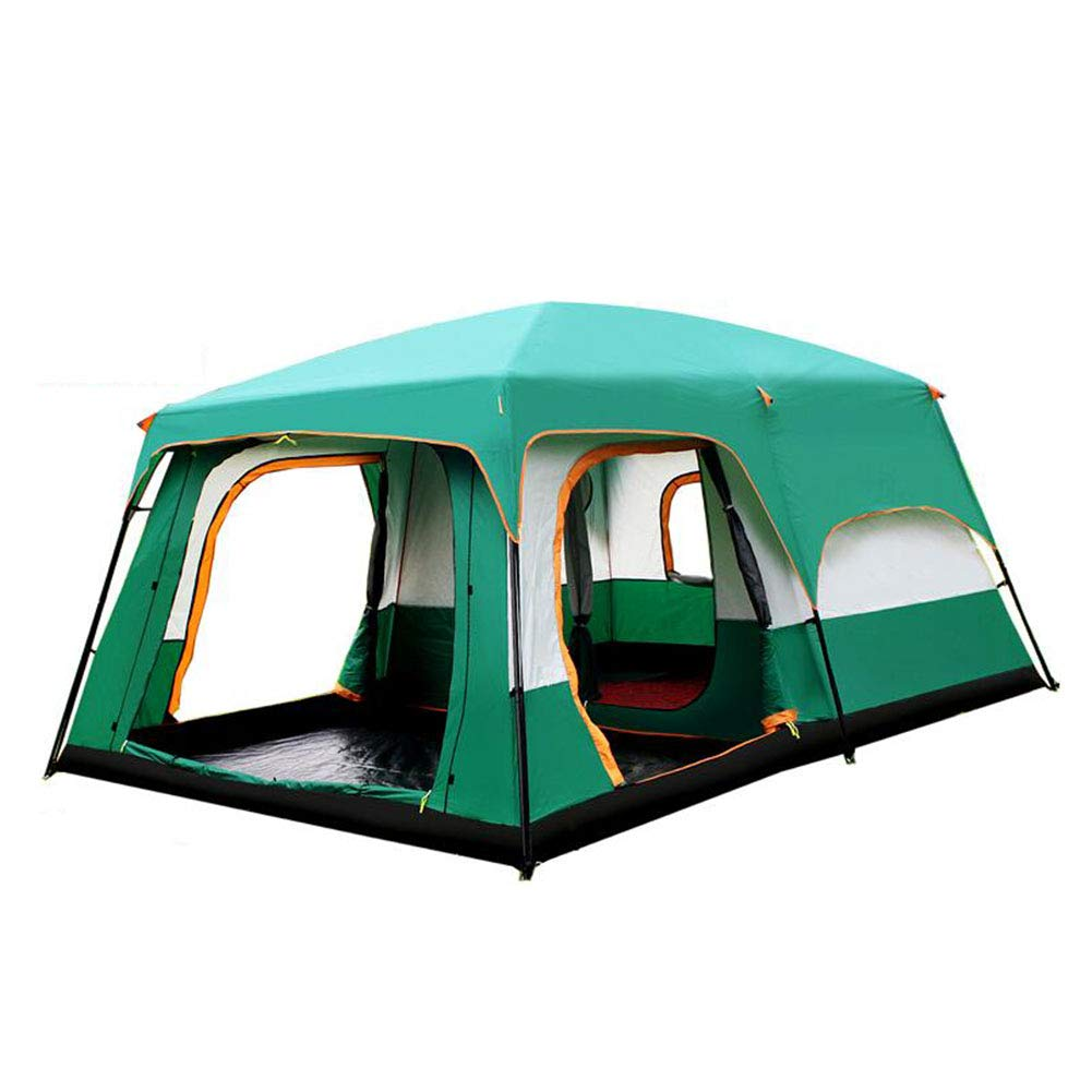 DALL テント テント 防水 キャンプのテント 2-8人 家族 トンネルテント 2寝室