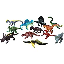 Dozen Small Toy Dinosaurs: 2.5 inch Plastic Toy Dino Figures