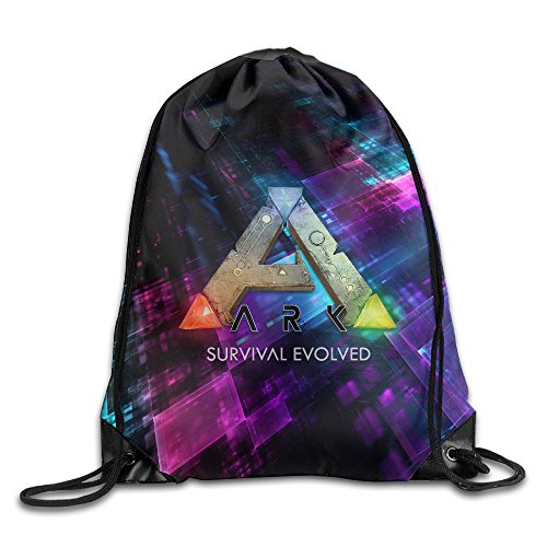 Creative Design Ark Survival Evolved ARPG Game Logo Drawstring Backpack Sport Bag For Men And Women