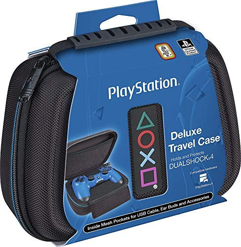 Sony PlayStation 4 Controller Case - Protective Deluxe Travel Case - Black Ballistic Nylon Exterior - Official Sony Licensed Product