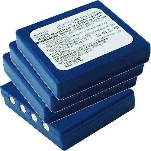 4x Exell EBS-FUB3A NiMH 6V 700mAh Batteries For HBC FUB 3A, FUB3A. Replaces Cameron Sino CS-FUB03BL, HBC AF-FUB03M, BA203060, BA222060 by Exell Battery