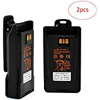 HYS FNB-V134LI 2600mAh High Capacity Li-Ion Rechargeable Battery with Belt Clip For YAESU &Vertex Standard VX-450 VX-451 VX-454 VX-459 EVX-530 EVX-531 EVX-534 EVX-539 VX261 Radio 2pcs