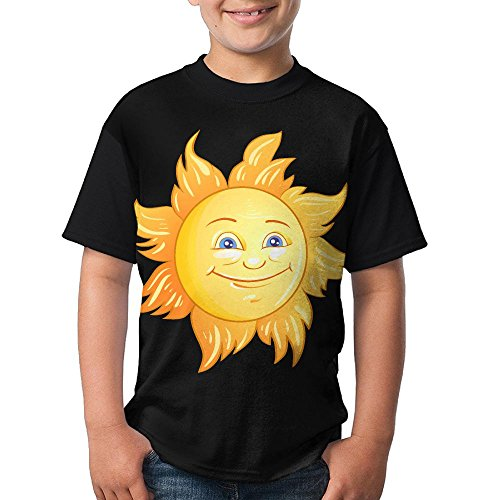Teen's Raglan T-Shirt Sun Cartoon Illustration 3D Digital Summer Short Sleeves Tees Top Fot Boys Girls