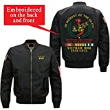 in Memory of The 58479 Brothers and Sisters Who Never Returned Vietnam Veteran Embroidered Jacket (Large, Black)
