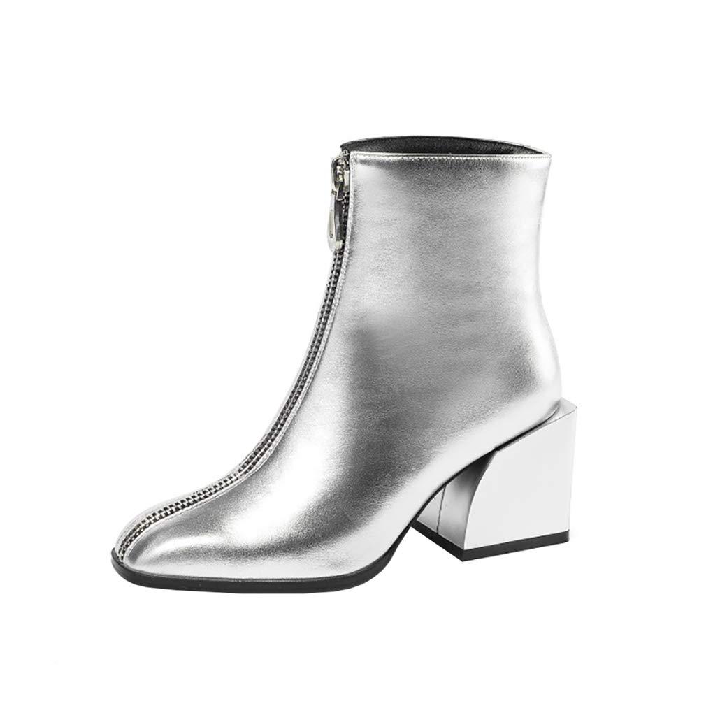 Argent Argent C Vaneel Femme vabtst Square-ToeCM 7 Fermeture éclair Bottes Chaussures  de gros