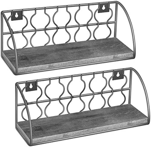 TomCare A-219 Floating Shelves, 1 Pack, Grey