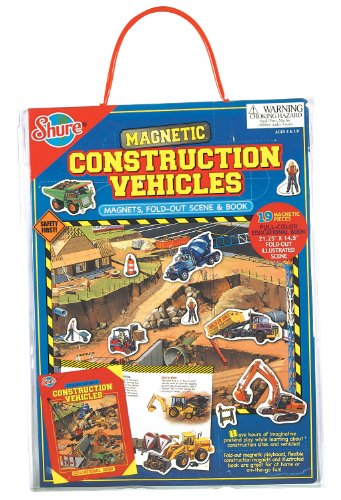 (T.S. Shure Construction Vehicles Magnetic Playboard and Book )