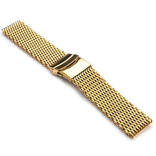 - StrapsCo Shark Mesh Milanese Watch Band