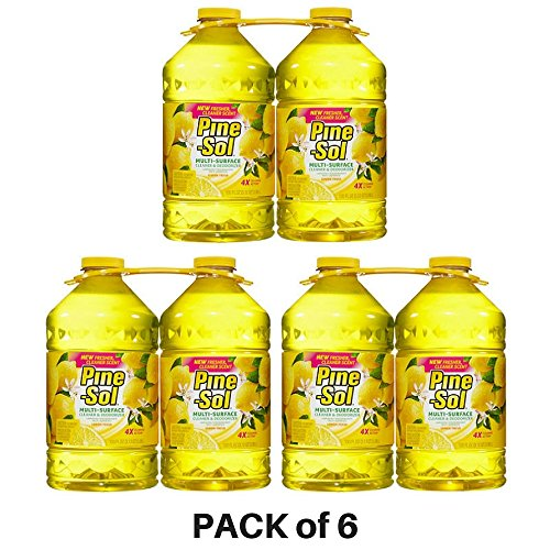 Pine-Sol, Multi-Surface Disinfectant, Lemon Scent - PACK of 6 (Scent Disinfectant Lemon)