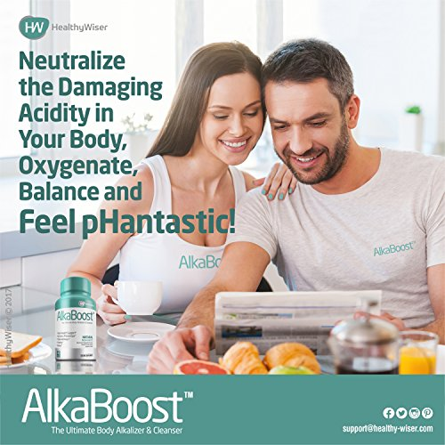 ALKA BOOST™ MultiVitamin For Healthy pH Balance, Alkaline Booster & Immune System Support. Natural Detox & Sickness Prevention Promotes Energy Clarity and Focus Green and Wholefood Blend, 90ct