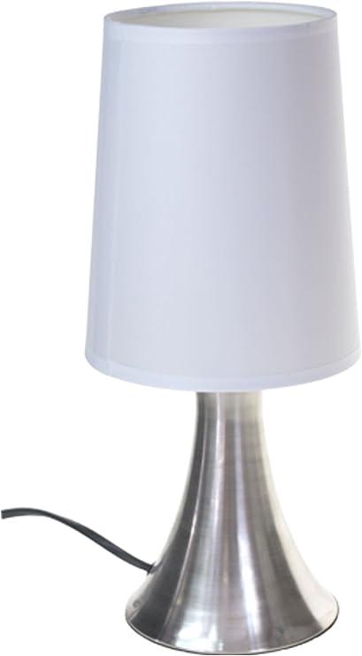 Lampe De Chevet Turin Touch Tactile S Allume Au Toucher 3 Intensités Inox Anti Tâches Et Coton