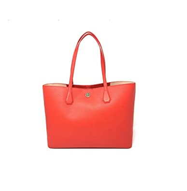 9b60b132dc6 Amazon.com  Tory Burch Perry Leather Tote Bag in Samba Pale Apricot ...