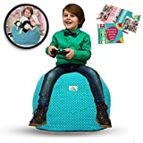 Kroco LARGE Stuffed Animal Storage Bean Bag Chair for Kids-Toy Storage Bag - Pouf Ottoman - Stuff  Animals Storage - Replace your stuffed animal hammock( Turquoise,Teal 30'')