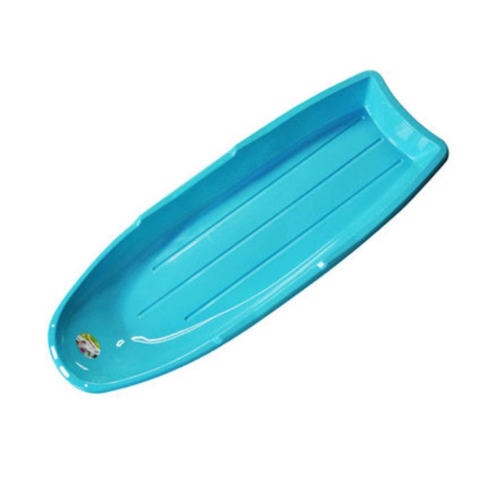 Grand traîneau en Plastique Snow SledSluge Bleu léger avec Manche en Corde