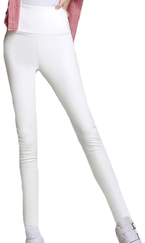 ASL Womens High-Waist Slim Fit Faux Skinny Pants