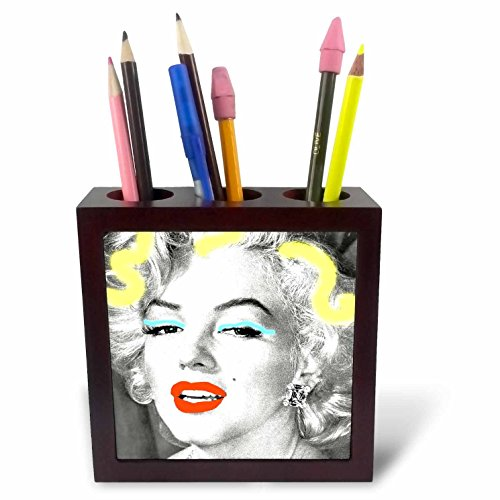 3dRose Portrait of Marilyn Monroe. Legendary Screen Actress. Tile Pen Holder, 5