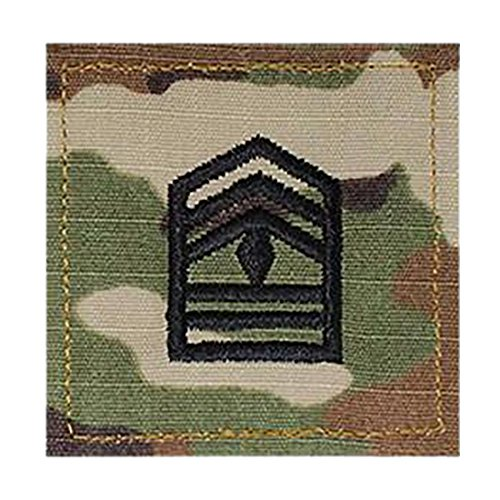 Army 1SGT ROTC Cadet Rank OCP Scorpion with HOOK Fastener-FIRST SERGEANT (Rank Insignia Rotc)