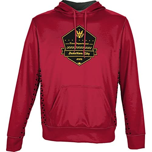 nice ProSphere Boys' Junction City Volunteer Fire Department Geometric Hoodie Sweatshirt